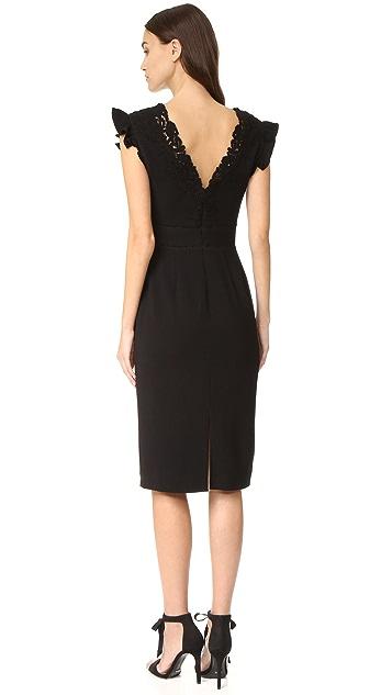 Rebecca Taylor Sleeveless Lace Trim Dress