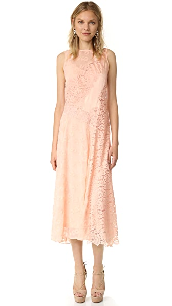 Rebecca Taylor Sleeveless Chevron Lace Dress