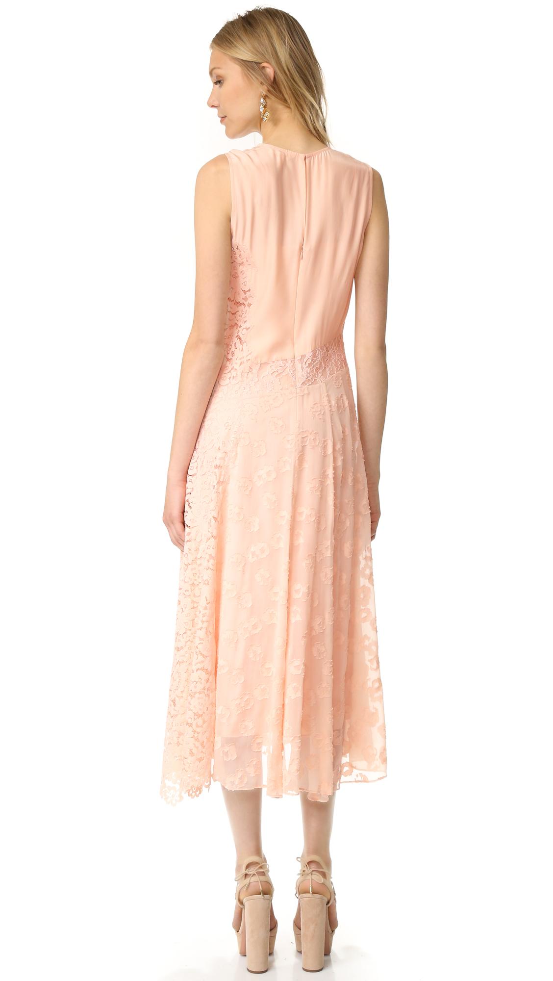 Rebecca Taylor Sleeveless Chevron Lace Dress   SHOPBOP