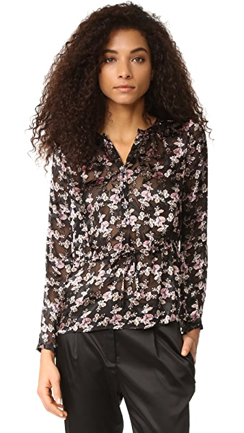 Rebecca Taylor Shadow Flower Top