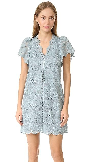 Rebecca Taylor V Neck Lace Dress