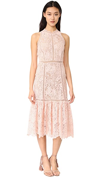 Rebecca Taylor Sleeveless Arella Midi Dress at Shopbop