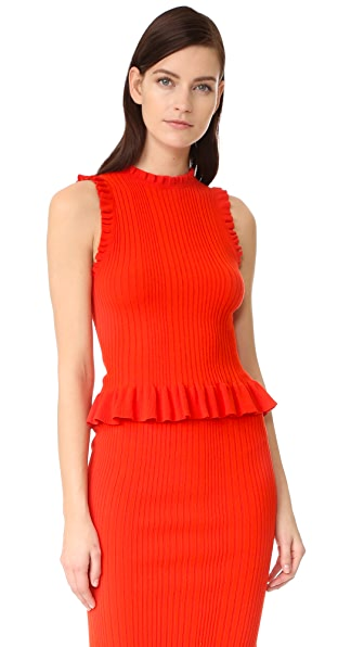Rebecca Taylor Sleeveless Ribbed Top