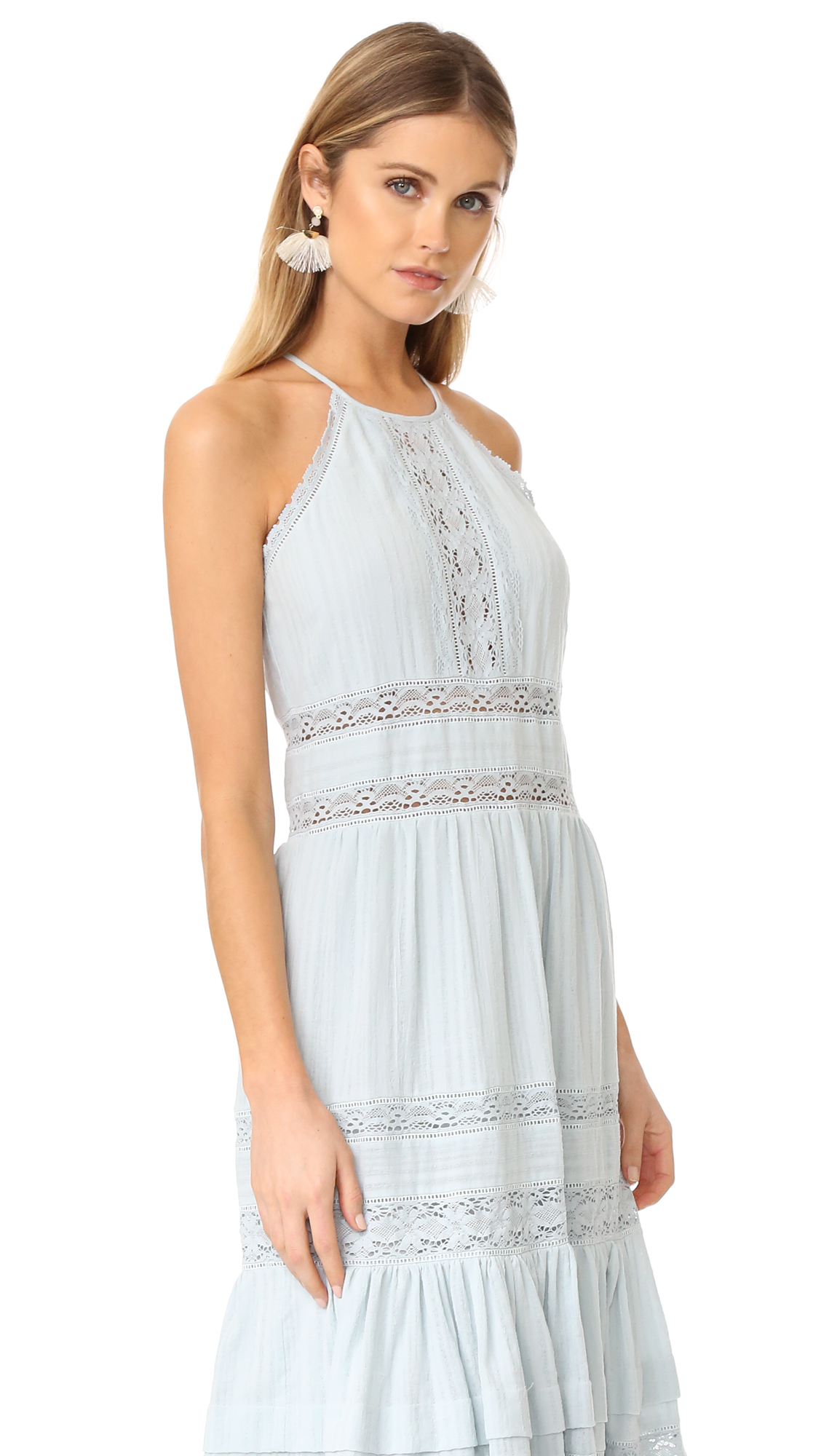 Rebecca Taylor Sleeveless Gauze Midi Dress | SHOPBOP