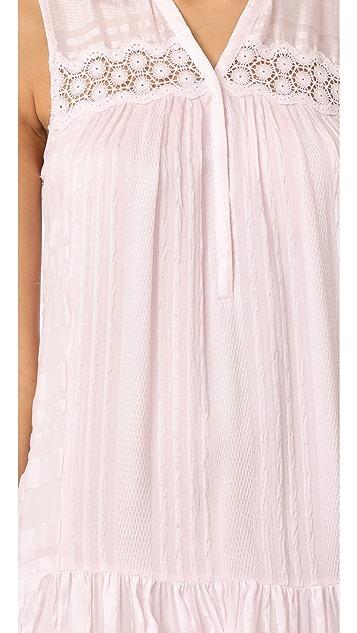 Rebecca Taylor Sleeveless Stripe Silk Dress