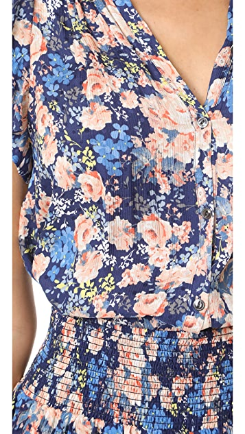 Rebecca Taylor Gigi Floral Print Top
