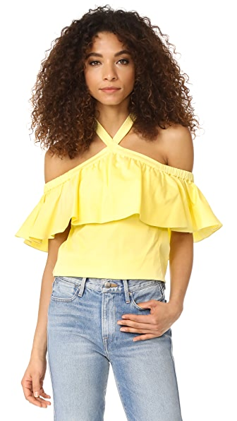 Rebecca Taylor Off Shoulder Halter Top