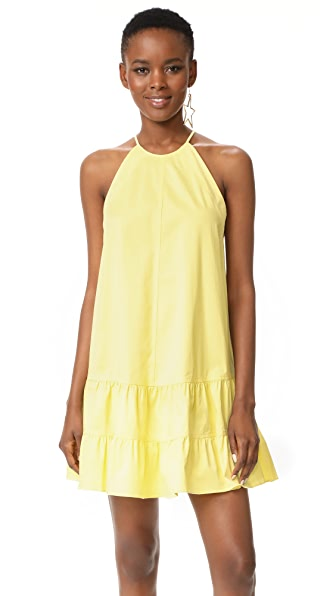 Rebecca Taylor Sleeveless Tank Dress - Citron