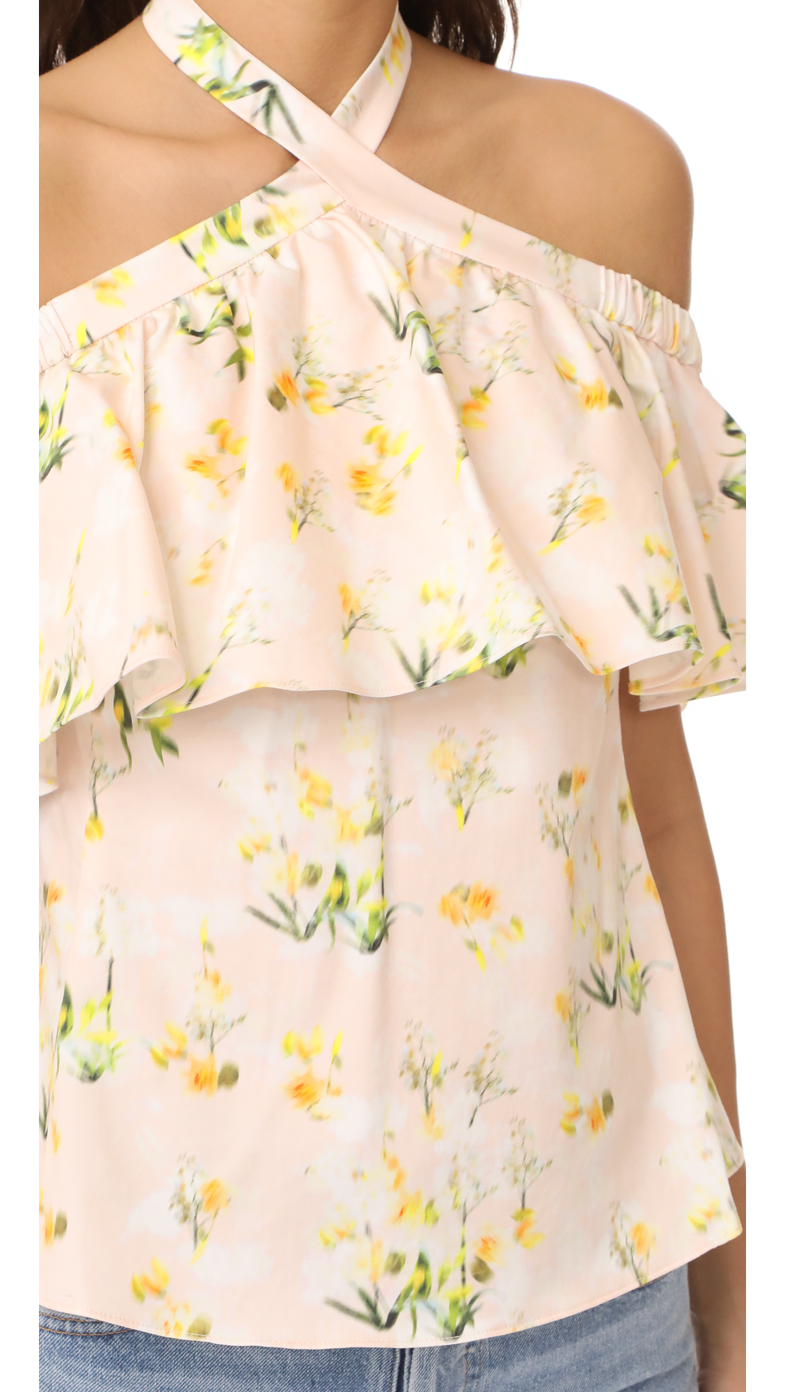 c8589eacbe7c7 Rebecca Taylor Off Shoulder Firefly Floral Top