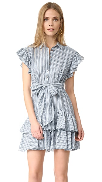 Rebecca Taylor Short Sleeve Stripe Dress