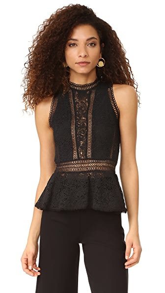 Rebecca Taylor Sleeveless Ariella Peplum Top
