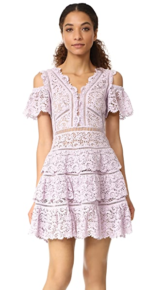 Rebecca Taylor Cold Shoulder Lace Dress at Shopbop