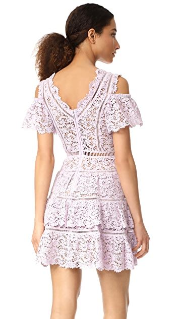 Rebecca Taylor Cold Shoulder Lace Dress