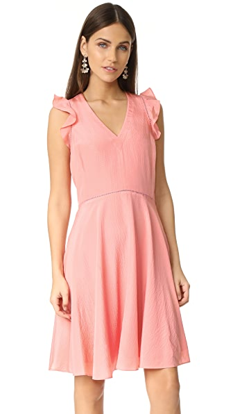 Rebecca Taylor Sleeveless Silk Ruffle Neck Dress at Shopbop