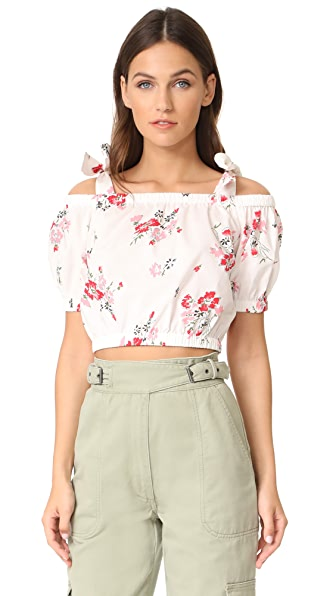 Rebecca Taylor Off the Shoulder Marguerite Pop Top