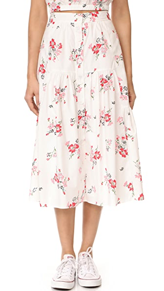 Rebecca Taylor Marguerite Pop Skirt In Snow