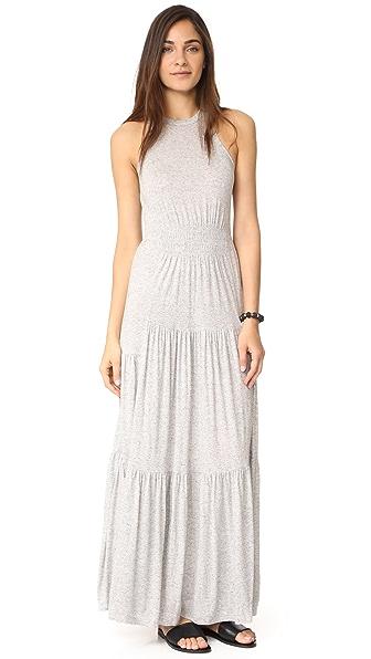 Rebecca Taylor Sleeveless Jersey Dress In Grey