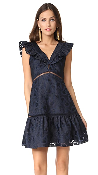 Rebecca Taylor Sleeveless Aly Fil Coupe Dress