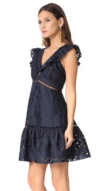 Rebecca Taylor Sleeveless Aly Fil Coupe Dress