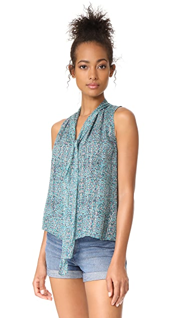 Rebecca Taylor Sleeveless Minnie Floral Top