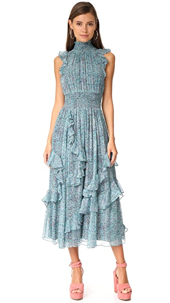 Rebecca Taylor Minnie Floral Maxi Dress