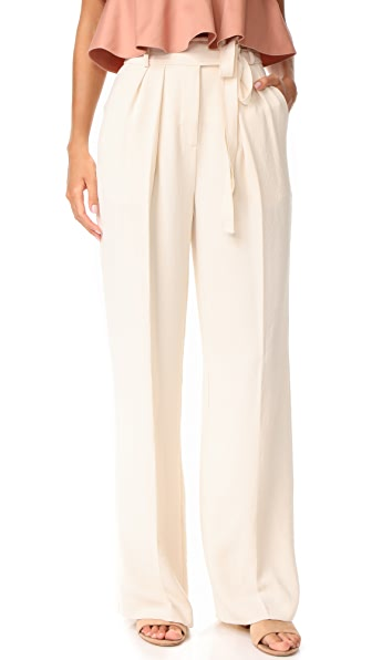 Rebecca Taylor High Rise Crepe Pant - Cream