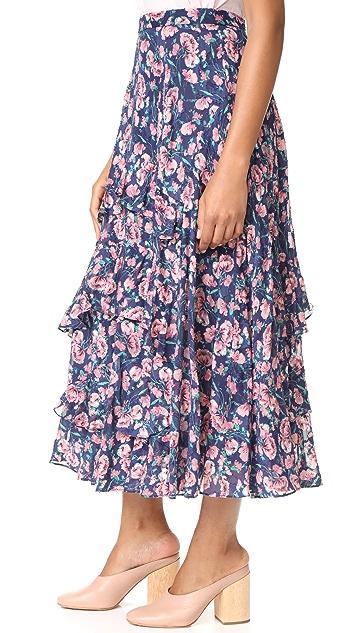 Rebecca Taylor Tea Rose Ruffle Skirt