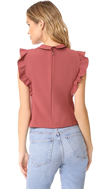 Rebecca Taylor Ruffle Suit Top
