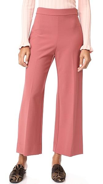 Rebecca Taylor Crop Suit Pants - Lipstick