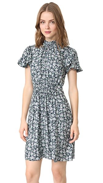 Rebecca Taylor Short Sleeve Capucine Dress - Black Combo