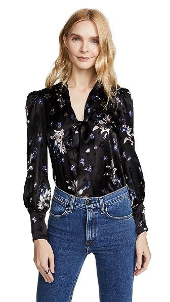 Rebecca Taylor Long Sleeve Violet Floral Top