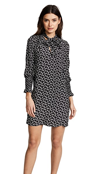 Rebecca Taylor Long Sleeve Rue Flower Dress at Shopbop