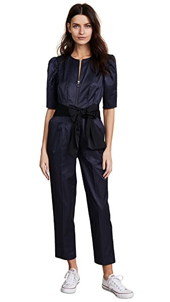 Rebecca Taylor Broken Sateen Jumpsuit at Shopbop