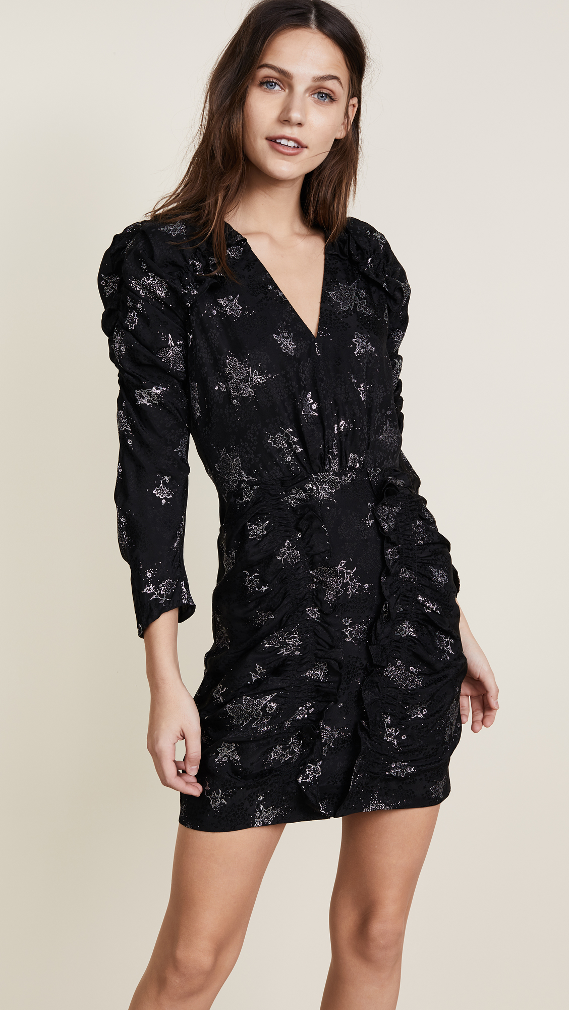 606ffd57 Rebecca Taylor Glitter Print Silk Jacquard Dress | SHOPBOP