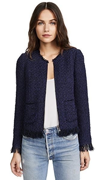 Rebecca Taylor Fringe Tweed Jacket at Shopbop