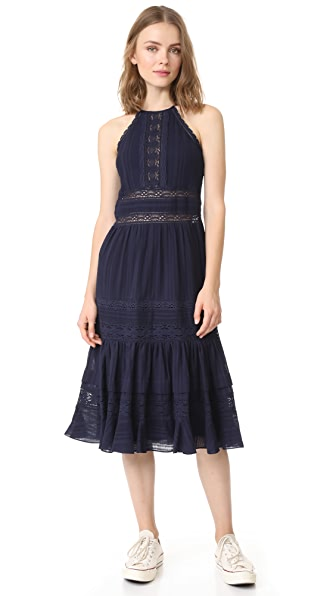 Rebecca Taylor Sleeveless Mid Dress - Navy/Black