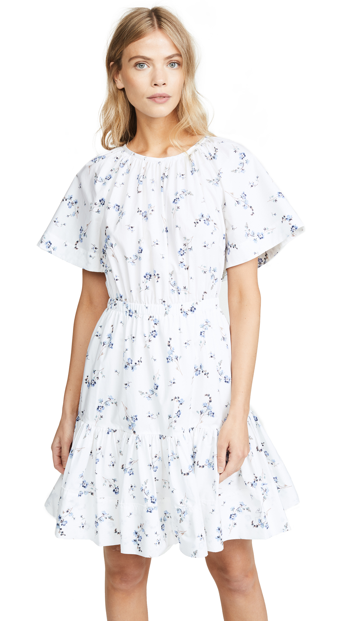 Rebecca Taylor Francine Dress In Snow Combo