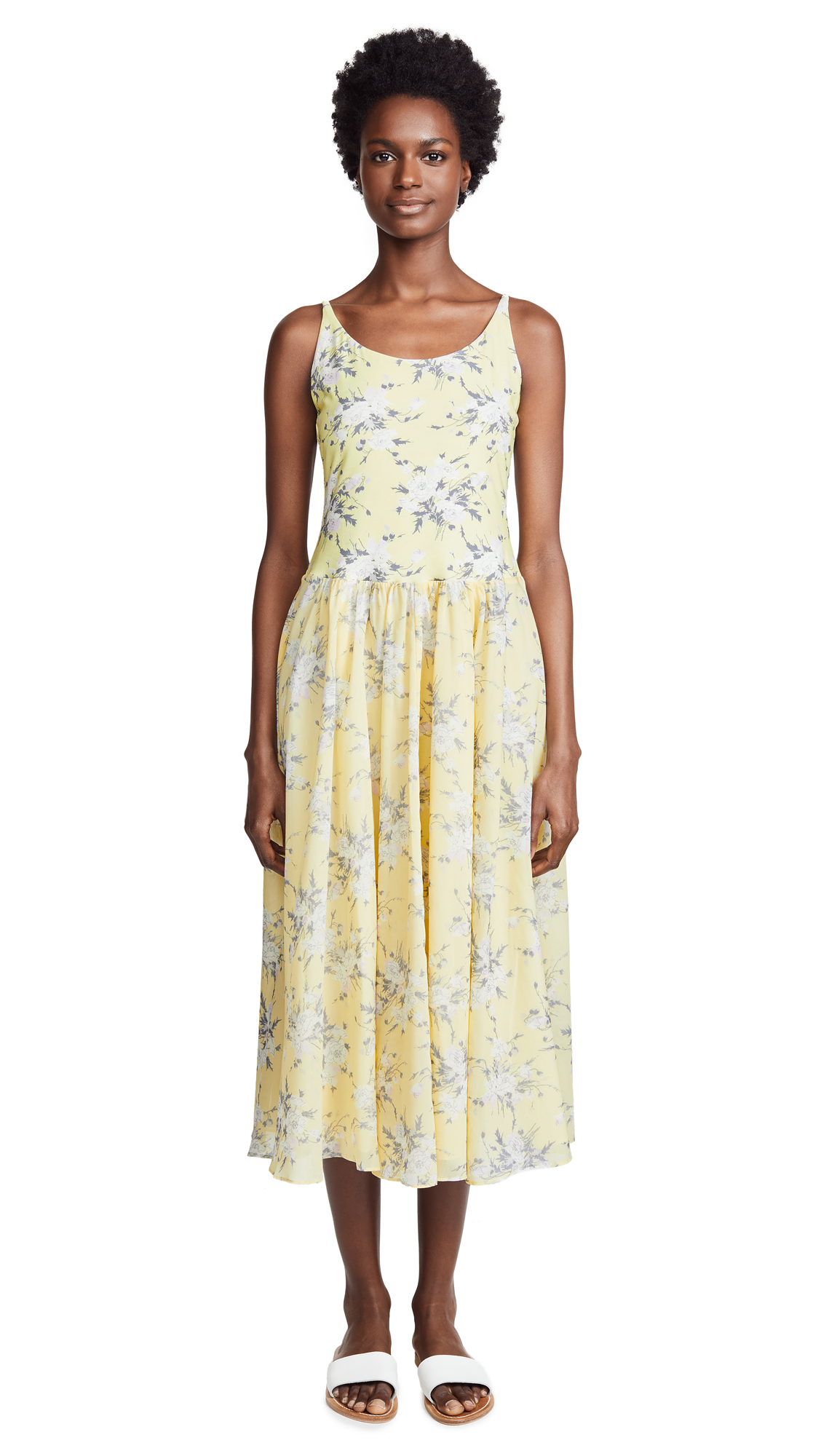Rebecca Taylor Lemon Jersey Dress In Lemon Combo