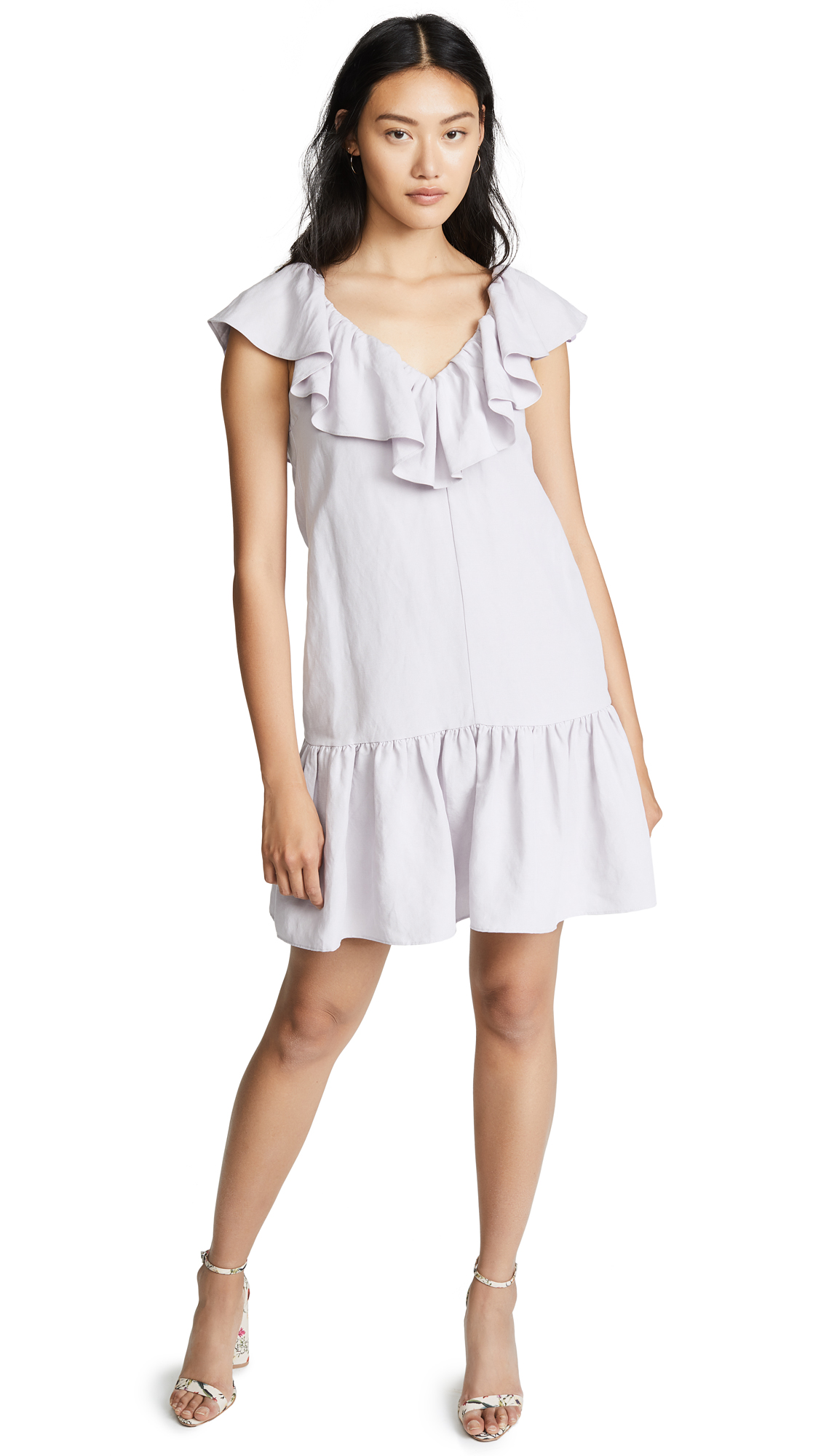 Photo of Rebecca Taylor Linen Ruffle Dress online sales