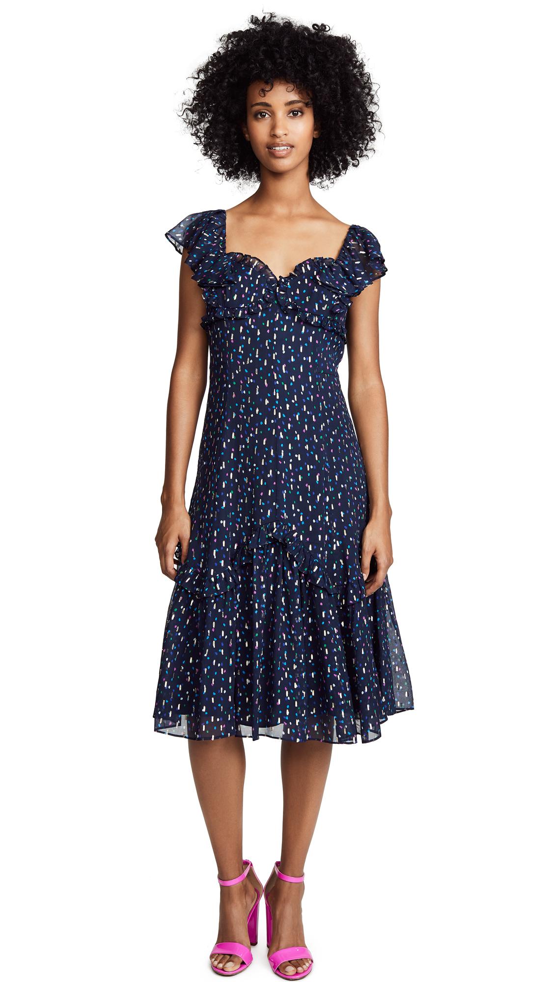 Rebecca Taylor Sleeveless Speckled Dot Dress