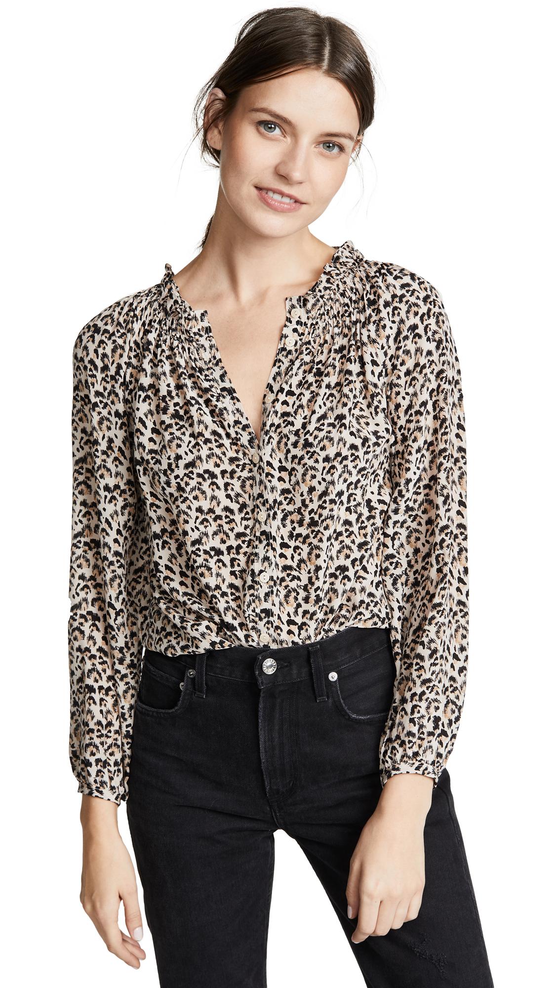 ded4292038c15 Rebecca Taylor Long Sleeve Leopard Top