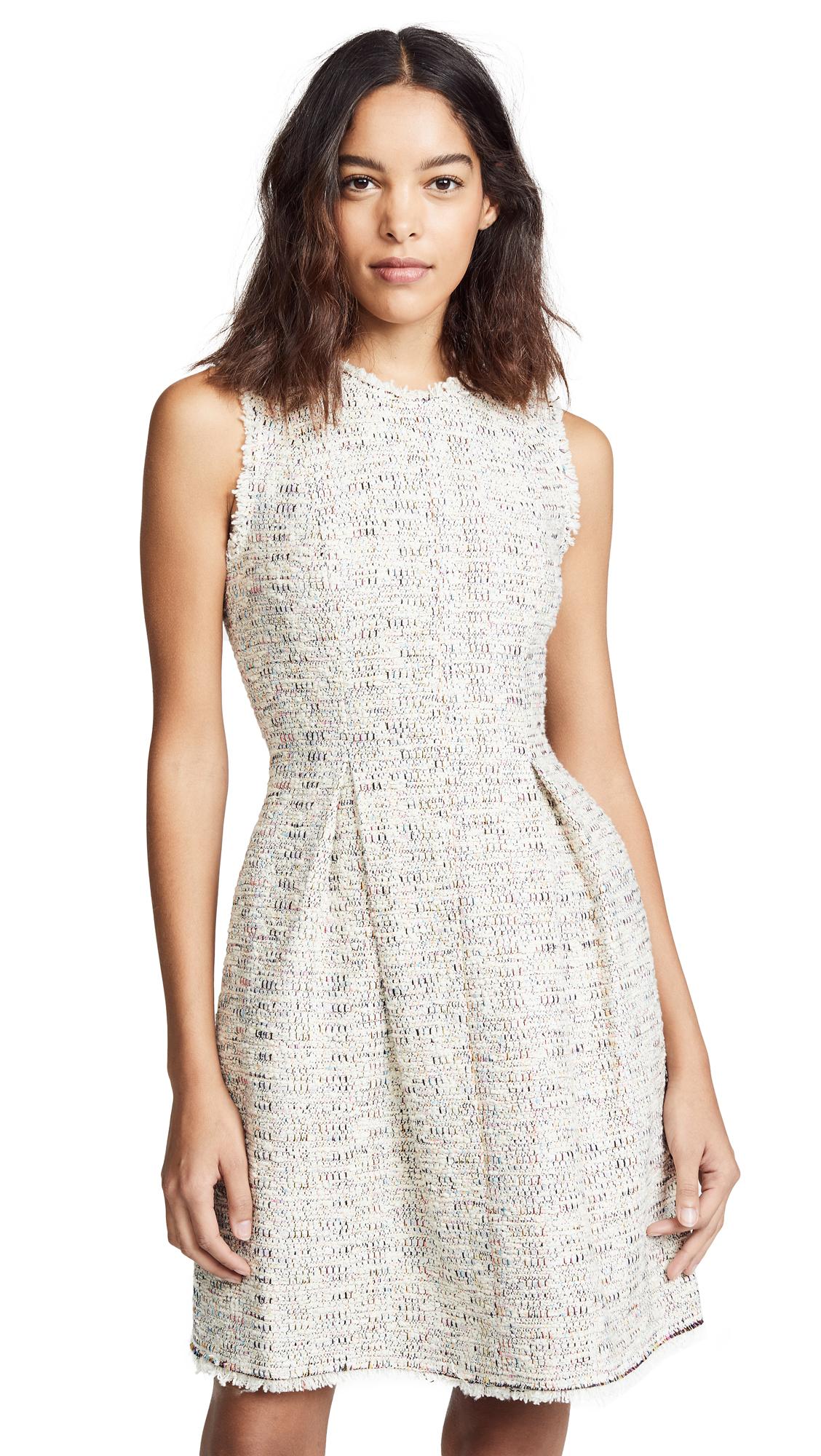 Rebecca Taylor Sleeveless Rainbow Tweed Dress - Multi