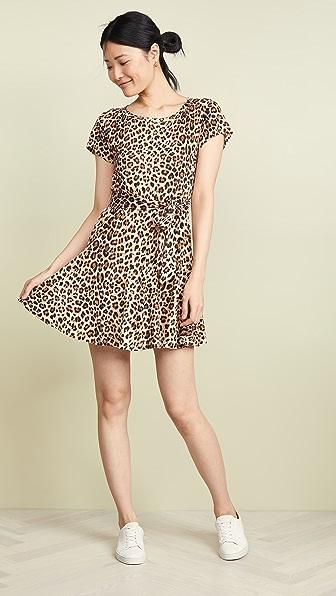 Rebecca Taylor Dresses SHORT SLEEVE LEOPARD JERSEY DRESS