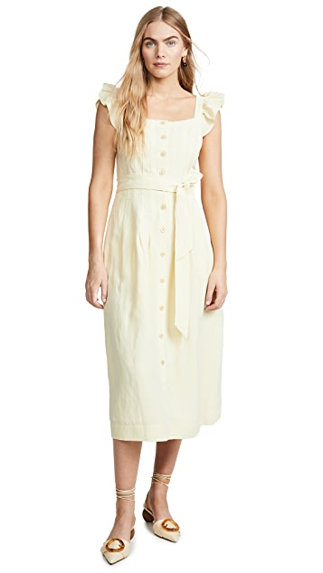Rebecca Taylor Sleeveless Linen Dress