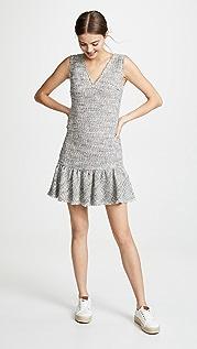 Rebecca Taylor Платье с V-образным вырезом без рукавов из твида