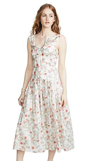 Rebecca Taylor Sleeveless Kamea Bow Dress