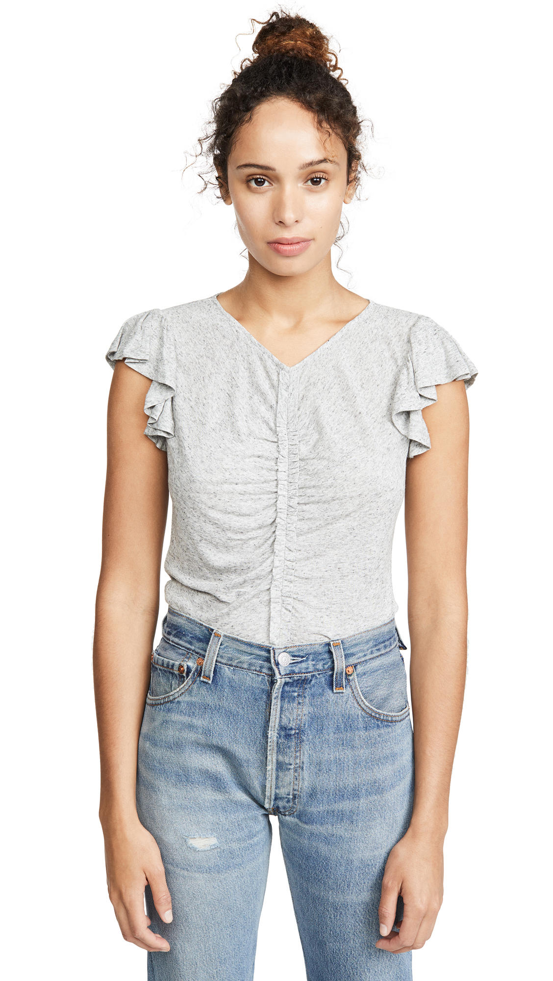 Buy Rebecca Taylor online - photo of Rebecca Taylor Sleeveless Ruched Jersey Tee