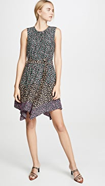 a7e542b1b487 Rebecca Taylor. Sleeveless Louisa Floral Dress