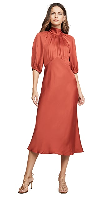 Rebecca Taylor Short Sleeve Satin Tie Dress