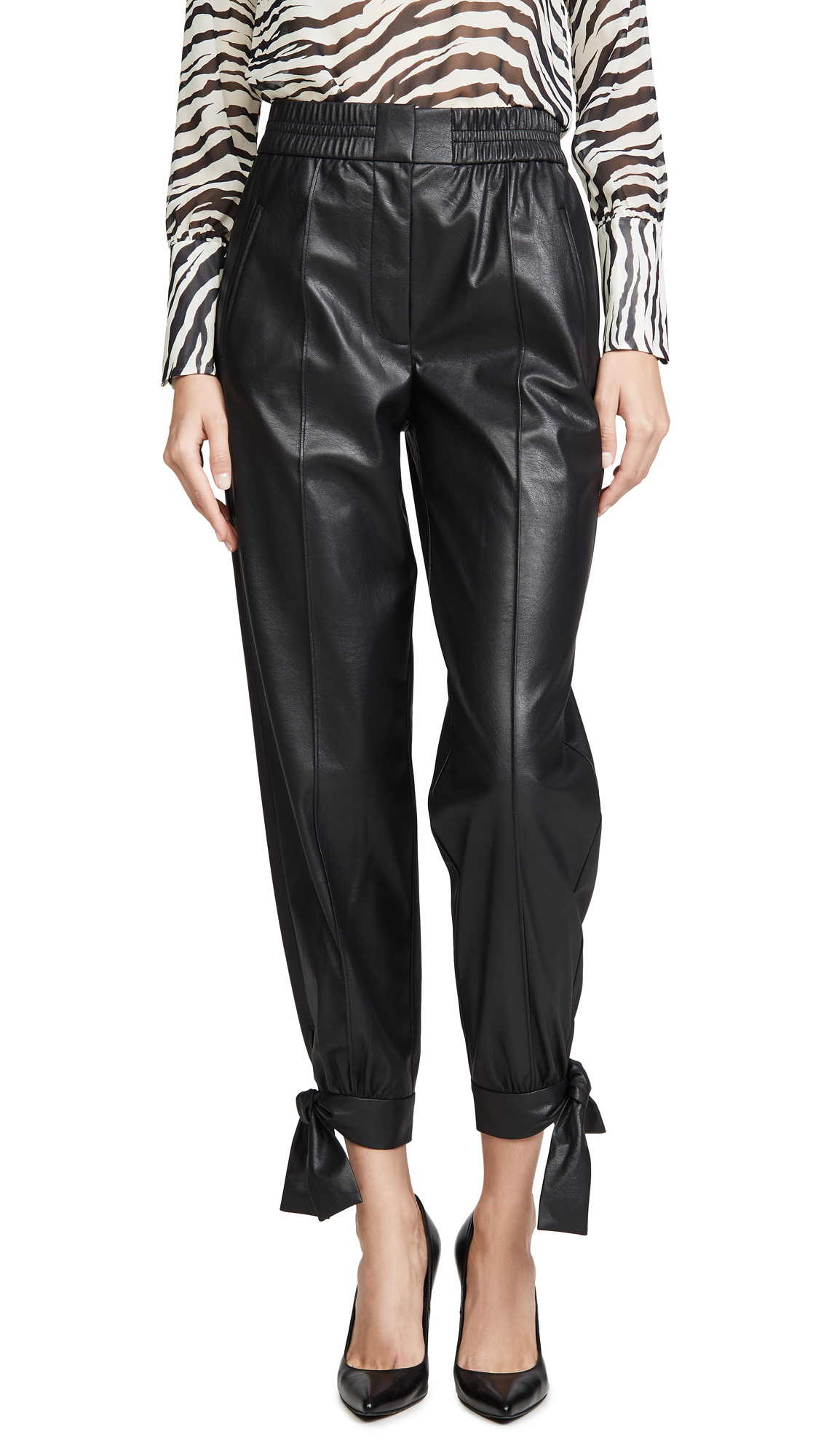 Buy Rebecca Taylor online - photo of Rebecca Taylor Vegan Leather Pants